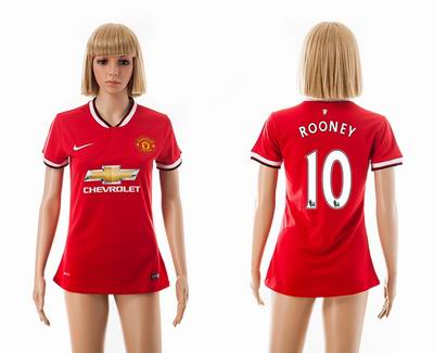 Manchester united home Women 10#