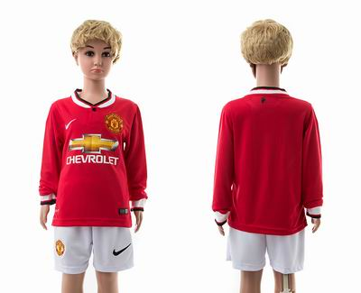 Manchester united home long sleeve kids