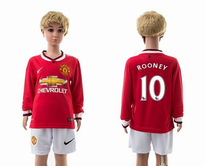 Manchester united home long sleeves kids 10#