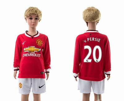 Manchester united home long sleeves kids 20#