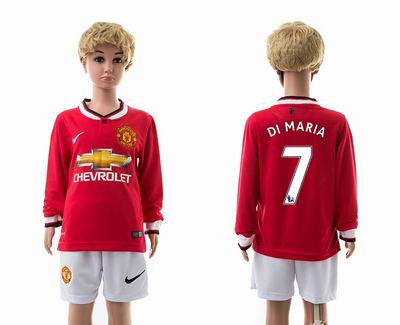 Manchester united home long sleeves kids 7#
