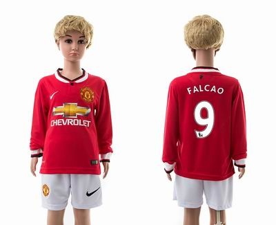 Manchester united home long sleeves kids 9#