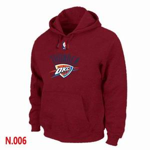 Mens Oklahoma City Thunder Red  Pullover Hoodie