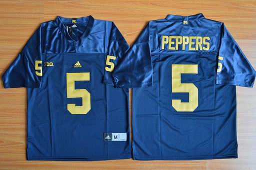 Michigan Wolverines Jabrill Peppers 5 NCAA Football Jersey - Navy Blue