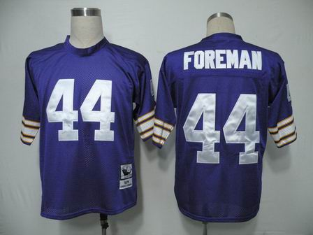 Minnesota Vikings 44 Foreman Purple Color Throwback Jersey