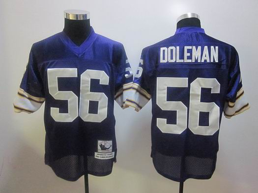 Minnesota Vikings 56 Chris Doleman Purple Color Throwback Jersey
