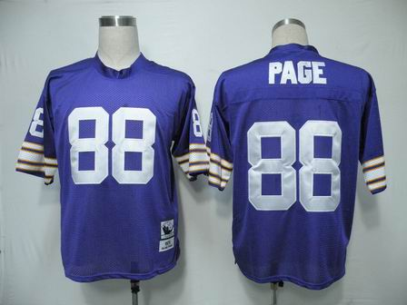 Minnesota Vikings 88 Page Purple Color Throwback Jersey