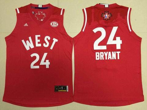 NBA 15-16 All Star jersey #24 Bryant red