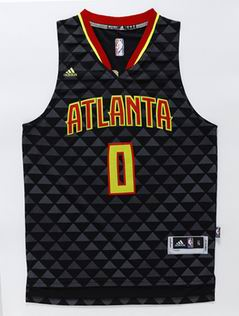 NBA Atlanta Hawks 0 Teague black jersey