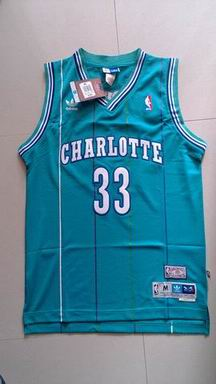 NBA Charlotte Hornets 33 Mourning blue jersey