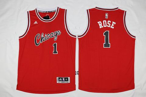 NBA Chicago Bulls #1 Rose red jersey