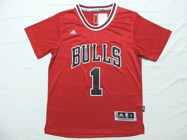 NBA Chicago Bulls 1 Rose red jersey
