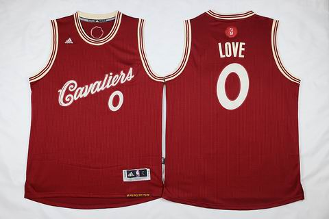 NBA Cleveland Cavaliers #0 Love red christmas day jersey