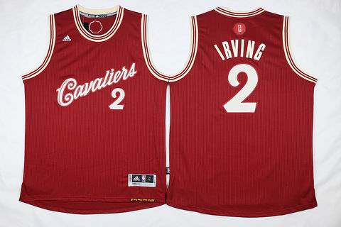 NBA Cleveland Cavaliers #2 Irving red christmas day jersey