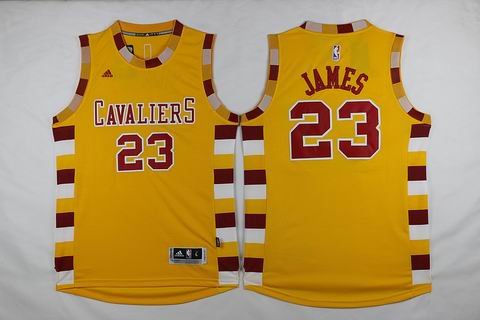 NBA Cleveland Cavaliers #23 James yellow jersey