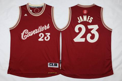 NBA Cleveland Cavaliers #23 james red christmas day jersey