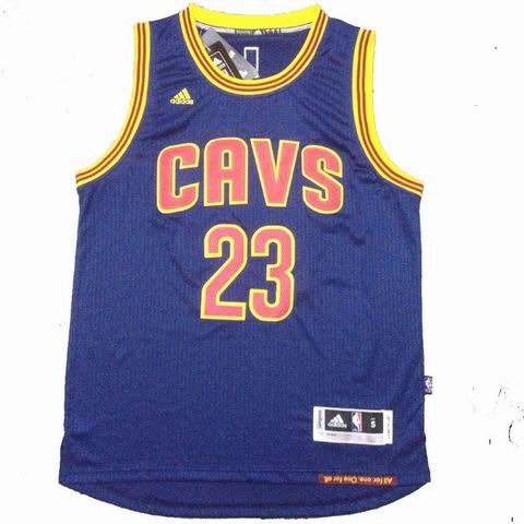 NBA Cleveland Cavaliers 23 James blue jersey