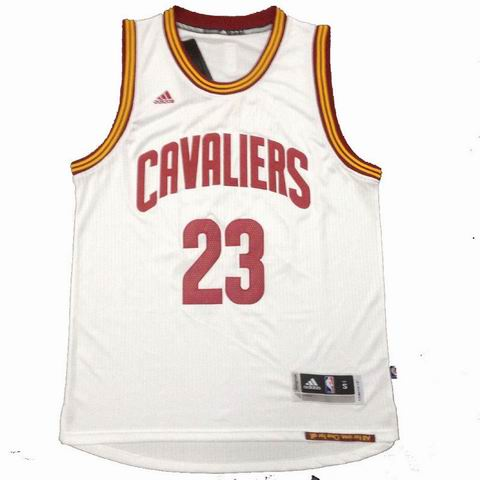 NBA Cleveland Cavaliers 23 James white jersey