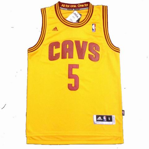NBA Cleveland Cavaliers 5 Smith yellow jersey