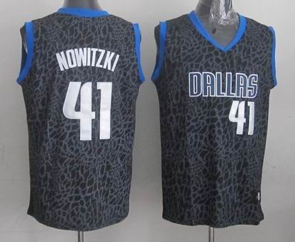 NBA Dallas 41 Nowitzki crazy light jersey