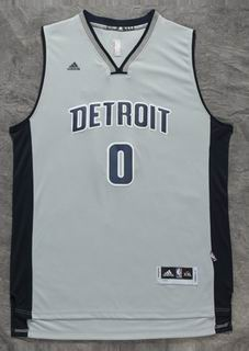NBA Detroit Pistons #0 Drummond grey Jersey