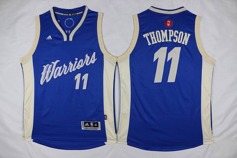 NBA Golden State Warriors #11 Thompson blue christmas day jersey