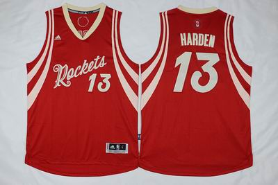NBA Houston Rockets #13 Harden red christmas day jersey
