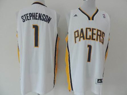 NBA Indiana Pacers 1 Stephenson white jersey
