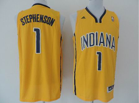 NBA Indiana Pacers 1 Stephenson yellow jersey