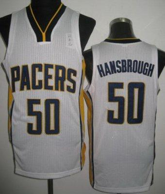 NBA Indiana Pacers 50 Tyler Hansbrough White Revolution 30 Jersey