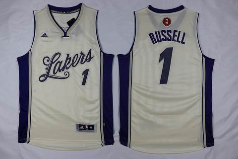 NBA Los Angeles Lakers #1 Russell white christmas day jersey