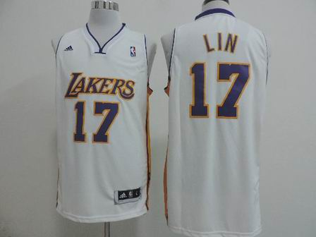 NBA Los Angeles Lakers #17 Lin white jersey