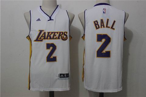 NBA Los Angeles Lakers #2 BALL white jersey