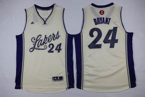 NBA Los Angeles Lakers #24 Bryant white christmas day jersey