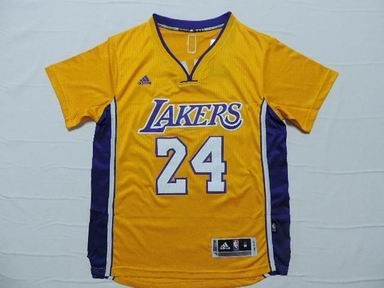 NBA Los Angeles Lakers 24 Bryant yellow jersey