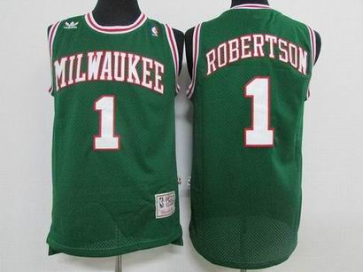 NBA Milwaukee Bucks #1 Robertson green jersey