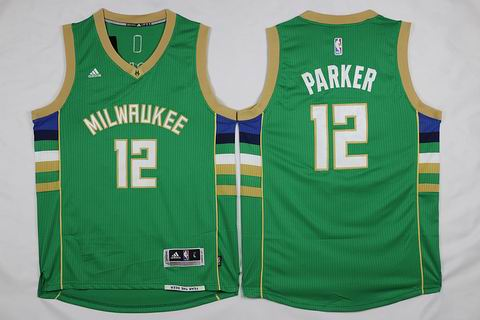 NBA Milwaukee Bucks #12 Parker green jersey