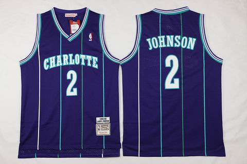 NBA New Orleans Hornets #2 Johnson purple Jersey swingman