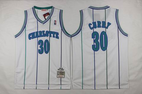 NBA New Orleans Hornets #30 Curry white Jersey swingman