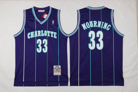 NBA New Orleans Hornets #33 Mourning purple Jersey swingman