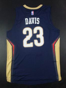 NBA New Orleans Pelicans #23 Anthony Davis New Swingman jersey navy blue