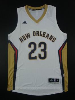 NBA New Orleans Pelicans #23 Anthony Davis Swingman jersey white