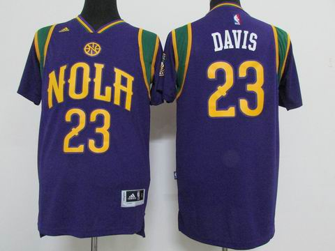 NBA New Orleans Pelicans #23 Davis purple jersey