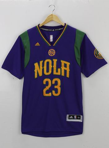 NBA New Orleans Pelicans 23 Davis purple jersey