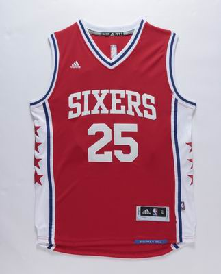 NBA Philadelphia 76ers #25 Simmons red jersey
