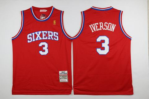 NBA Philadelphia 76ers #3 Iverson red classic jersey