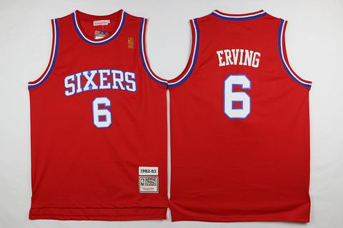 NBA Philadelphia 76ers #6 Irving red classic jersey