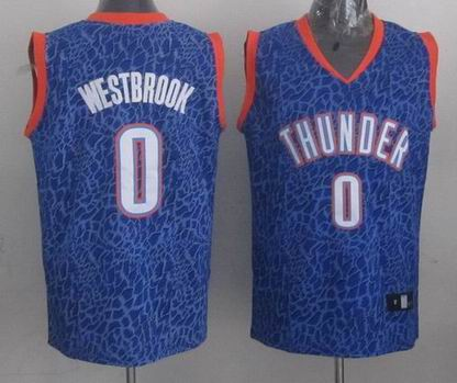 NBA Thunder 0 Westbrook crazy light jersey