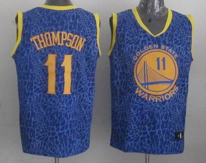 NBA Warriors 11 Thompson crazy light jersey