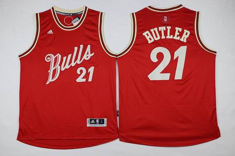 NBA chicago bulls #21 Butler red christmas day jersey